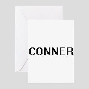 Conner digital retro design Greeting Cards