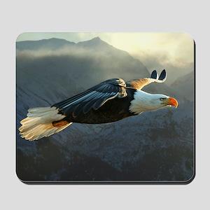 Flying Bald Eagle Mousepad