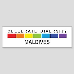 MALDIVES - Celebrate Diversit Bumper Sticker