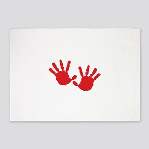 Handprints 5'x7'Area Rug