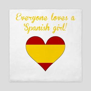 Everyone Loves A Spanish Girl Queen Duvet