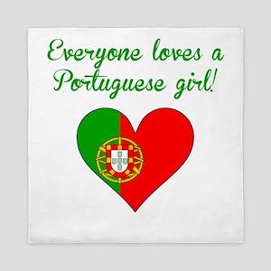 Everyone Loves A Portuguese Girl Queen Duvet