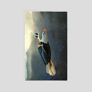 Flying Bald Eagle Area Rug