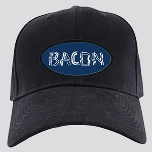 Bacon Typography Black Cap with Patch