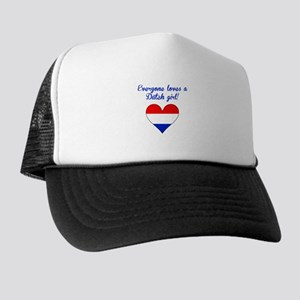 Everyone Loves A Dutch Girl Trucker Hat