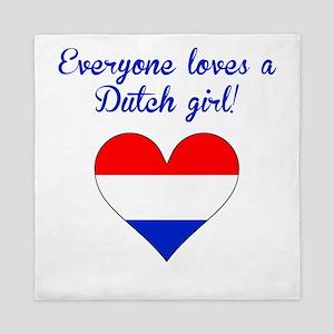 Everyone Loves A Dutch Girl Queen Duvet