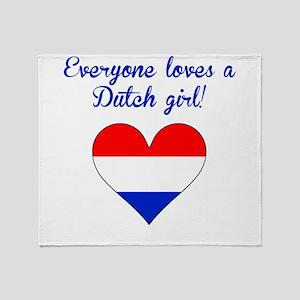 Everyone Loves A Dutch Girl Throw Blanket