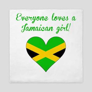 Everyone Loves A Jamaican Girl Queen Duvet