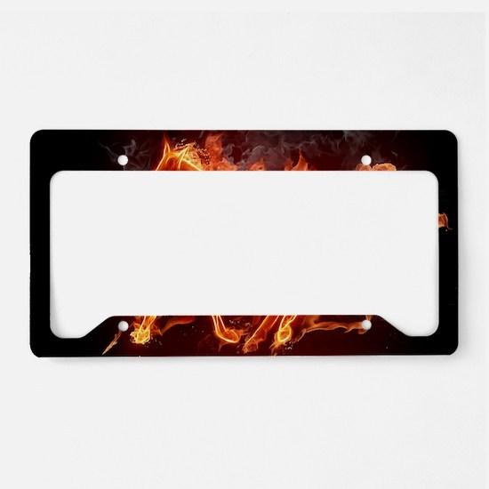 Fire Horse License Plate Holder
