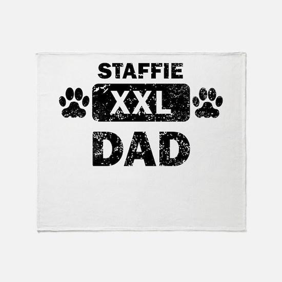 Staffie Dad Throw Blanket
