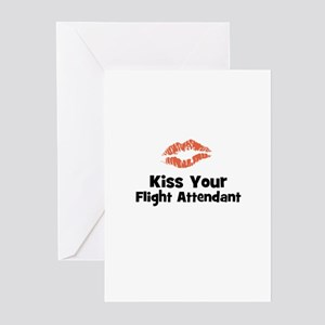 Kiss Your Flight Attendant Greeting Cards (Pk of 1