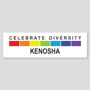 KENOSHA - Celebrate Diversity Bumper Sticker