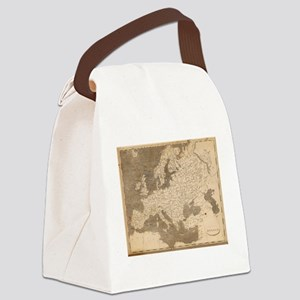 Vintage Map of Europe (1804) Canvas Lunch Bag