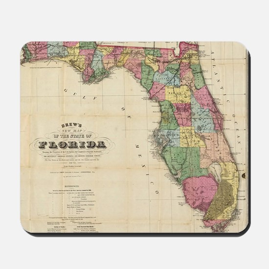 Vintage Map of Florida (1870) Mousepad