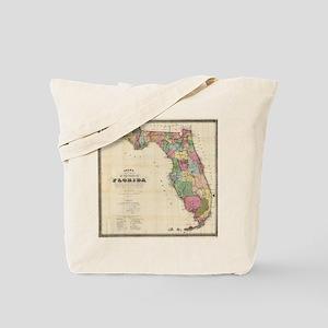 Vintage Map of Florida (1870) Tote Bag