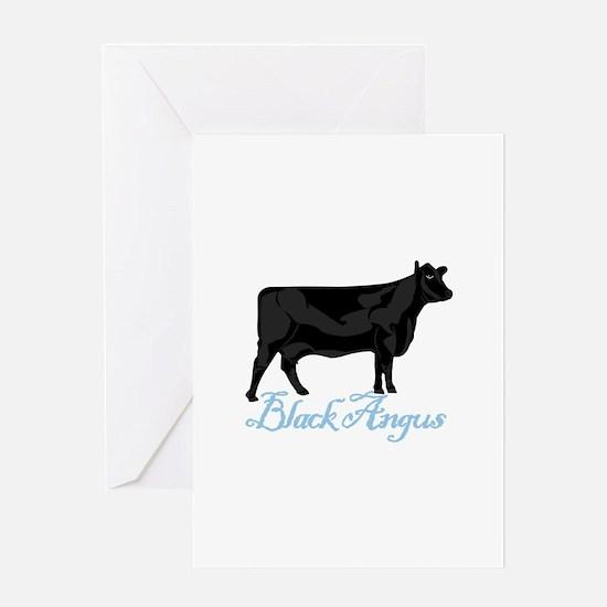 Black Angus Greeting Cards