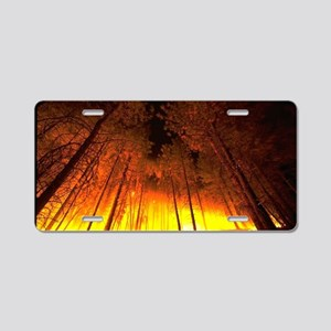 Forest Fire Aluminum License Plate