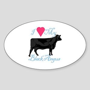 I Love My Black Angus Sticker