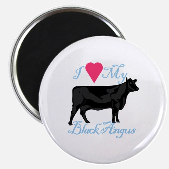 I Love My Black Angus Magnets