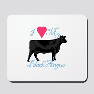 I Love My Black Angus Mousepad