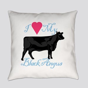 I Love My Black Angus Everyday Pillow