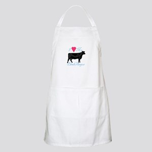 I Love My Black Angus Apron