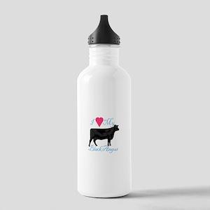 I Love My Black Angus Water Bottle