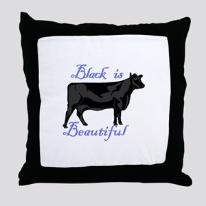 Black Is Beautiful Throw Pillow