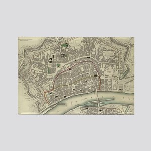 Vintage Map of Frankfurt Germany  Rectangle Magnet