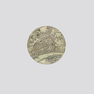Vintage Map of Frankfurt Germany (1837 Mini Button