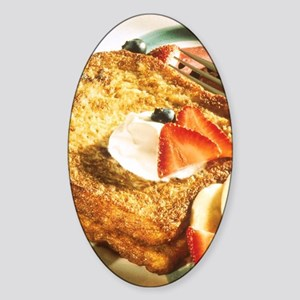 French Toast Sticker (Oval)
