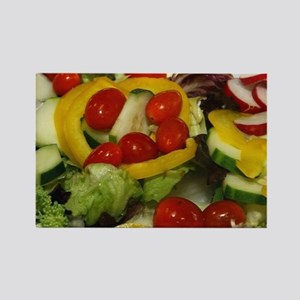 Fresh Garden Salad Rectangle Magnet