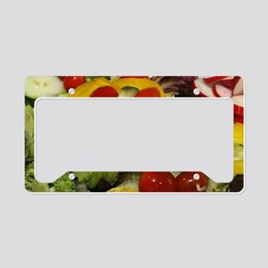 Fresh Garden Salad License Plate Holder
