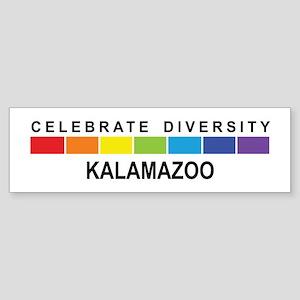 KALAMAZOO - Celebrate Diversi Bumper Sticker