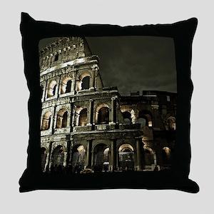 Coliseum At Night Throw Pillow
