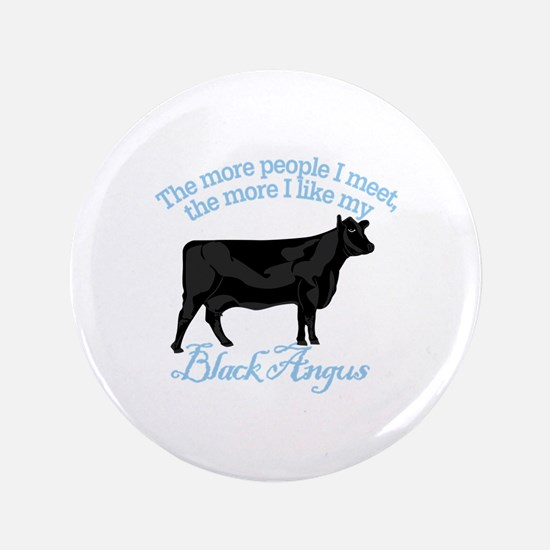 """Black Angus 3.5"""" Button (100 pack)"""