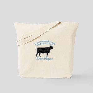 Black Angus Tote Bag