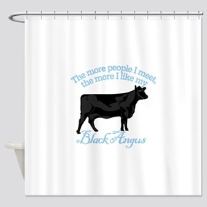 Black Angus Shower Curtain