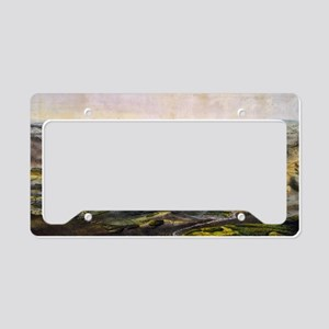 Vintage Map of The Gettysburg License Plate Holder