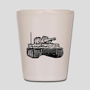 Tiger I Shot Glass