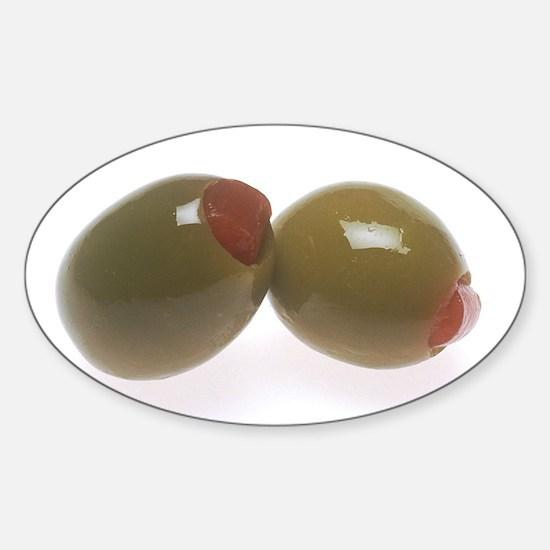 Green Olives Sticker (Oval)