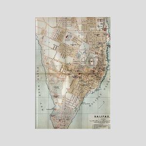 Vintage Map of Halifax Nova Scoti Rectangle Magnet