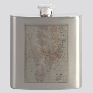 Vintage Map of Halifax Nova Scotia (1890) Flask