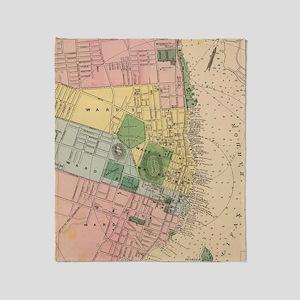 Vintage Map of Halifax Nova Scotia ( Throw Blanket