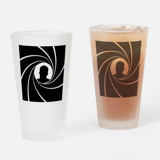 Cute 007 Drinking Glass