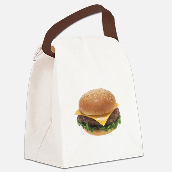 Cheeseburger Canvas Lunch Bag