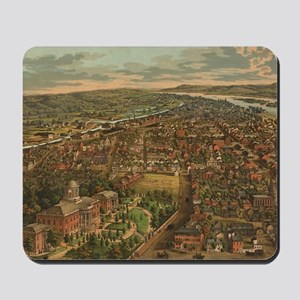 Vintage Pictorial Map of Harrisburg PA ( Mousepad