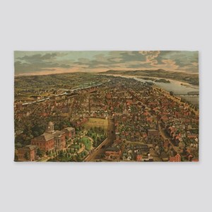 Vintage Pictorial Map of Harrisburg PA (1 Area Rug