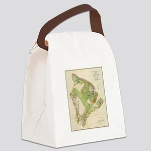 Vintage Map of Hawaii Island (190 Canvas Lunch Bag