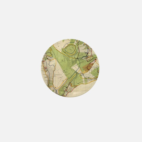 Vintage Map of Hawaii Island (1906) Mini Button